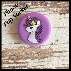 Accessories - UNICORN | Purple Pop Socket Phone Holder Stand NEW